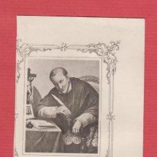 Postales: ESTAMPA RELIGIOSA-SAN ALPHONSUS MARÍA DE LIGORIO-EST.1920. Lote 48394018