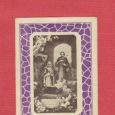 Postales: ESTAMPA RELIGIOSA-COLOR-IMAGEN SAGRADA FAMÍLIA-EST.1942. Lote 48397358