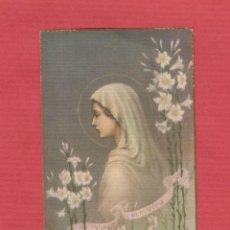 Postales: ESTAMPA RELIGIOSA-IMAGEN VIRGEN-VIRGO PURÍSIMA-EST.1961. Lote 48397882