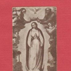 Postales: ESTAMPA RELIGIOSA-INMACULADA CONCEPCIÓN-PATRONA SEMINARIO CONCILIAR CENTRAL-RDO 1ªMISA-1926-EST.1975. Lote 48414871