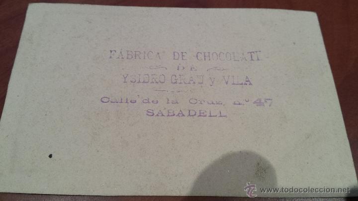 Postales: ANTIGUA ESTAMPA RELIGIOSA CHOCOLATE GRAN Y VILA SABADELL BARCELONA - Foto 2 - 48517787