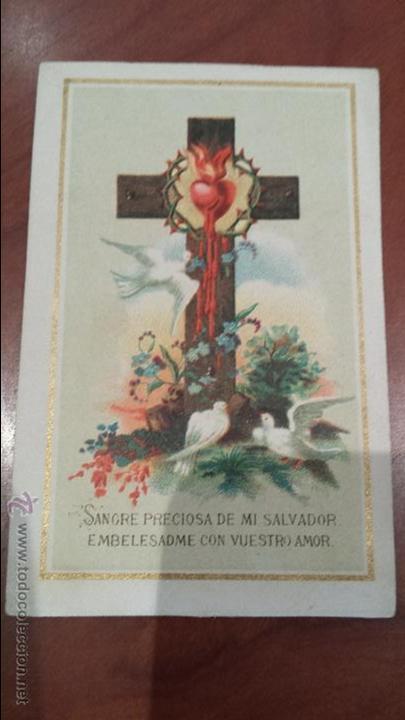 ANTIGUA ESTAMPA RELIGIOSA CHOCOLATE GRAN Y VILA SABADELL BARCELONA (Postales - Postales Temáticas - Religiosas y Recordatorios)