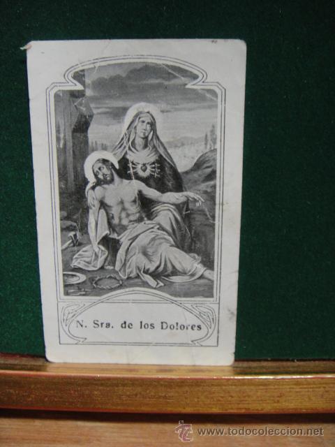 ESTAMPA N. SRA DE LOS DOLORES (Postales - Postales Temáticas - Religiosas y Recordatorios)