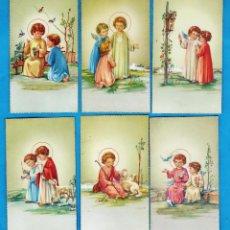 Cartes Postales: ESTAMPA COMUNION / RECORDATORIO - AZUR - IL. ILEGIBLE - ED. CYZ - COL. DE 6 - NUEVAS - AÑOS 60/70. Lote 48727174
