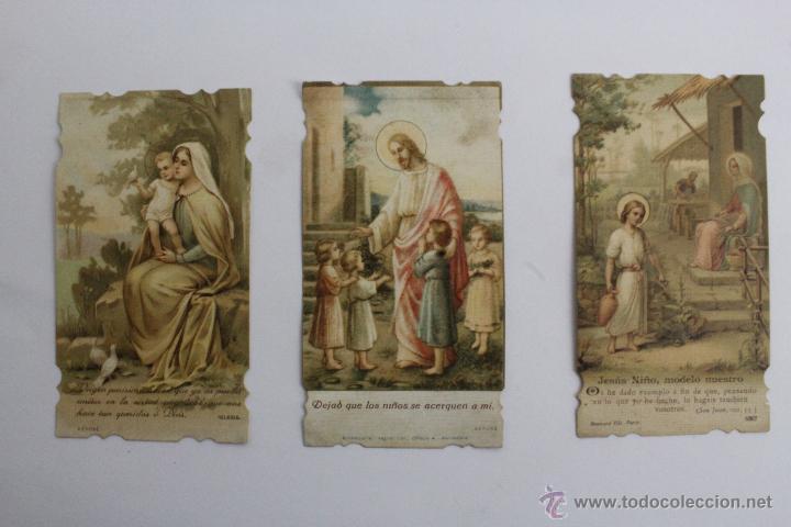 P-986. TRES ESTAMPAS VIDA DE JESUS DEL MISMO TIPO. AÑOS 20-30. (Postales - Postales Temáticas - Religiosas y Recordatorios)