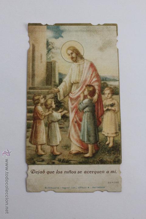 Postales: P-986. TRES ESTAMPAS VIDA DE JESUS DEL MISMO TIPO. AÑOS 20-30. - Foto 2 - 48916330