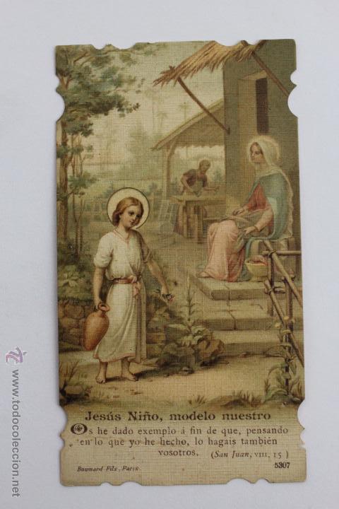 Postales: P-986. TRES ESTAMPAS VIDA DE JESUS DEL MISMO TIPO. AÑOS 20-30. - Foto 3 - 48916330