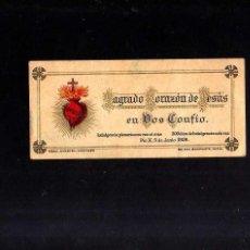 Postales: ESTAMPA RELIGIOSA. SAGRADO CORAZÓN DE JESÚS. 1906 .. Lote 49036143