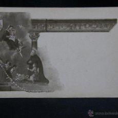 Postales: POSTAL AVE MARÍA INMACULADA CONCEPCIÓN SANTO CON NIÑO TIP CASTRO ZARAGOZA. Lote 49087726