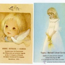 Postales: ESTAMPAS RECORDATORIOS PRIMERA COMUNION . Lote 49116990