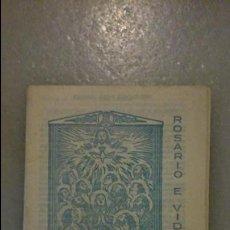 Postales: LIBRETO / LIBRILLO RELIGIOSO ANTIGUO: ROSARIO E VIDA CRISTA Nº 552 / EN PORTUGUÉS / 1982, ALCANENA. Lote 49146548