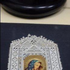 Postales: ESTAMPA RELIGIOSA O RECORDATORIO DE LA VIRGEN MARIA CON PUNTILLA TROQUELADA. Lote 49202258