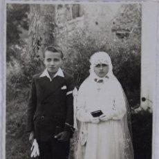 Postales: P-1266. PRIMERA COMUNION DE DOS HERMANOS. AÑO 1939. CAZALS DES BAYLES. FRANCE.. Lote 49321829