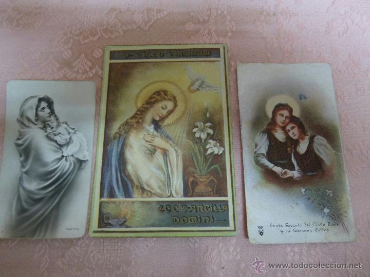 POSTALES RELIGIOSAS ANTIGUAS LOTE DE 3 POSTALES RELIGIOSAS (Postales - Postales Temáticas - Religiosas y Recordatorios)