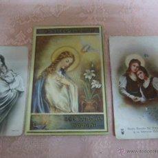 Postales: POSTALES RELIGIOSAS ANTIGUAS LOTE DE 3 POSTALES RELIGIOSAS. Lote 49352317