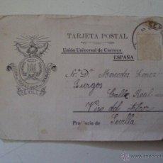 Postales: TARJETA POSTAL USADA DE PROPAGANDA DEL SEMINARIO DE SEVILLA DE 1909. Lote 49367268