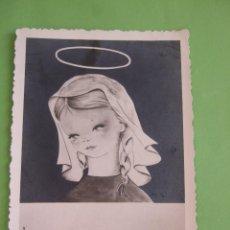 Postales: ESTAMPA RECORDATORIO COMUNION - 1962 - MADRID. Lote 49399449