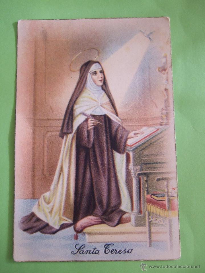 POSTAL SANTA TERESA DE JESUS - (Postales - Postales Temáticas - Religiosas y Recordatorios)