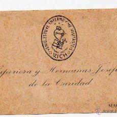 Postales: TARJETA CON FOTOGRAFIA Y RELIQUIA DE LA MARE FUNDADORA DE LES GERMANAS JOSEFINES DE LA CARITAT. Lote 49517871