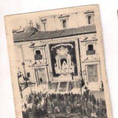 Postales: PLAZA DE LA VIRGEN, VALENCIA, ADORNADA PARA RECIBIR A SU PATRONA. Lote 49545582