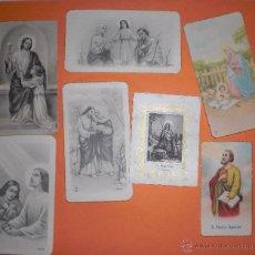 Postales: LOTE 7 ANTIGUAS ESTAMPAS DE COMUNION AÑOS 40,50. Lote 49700354