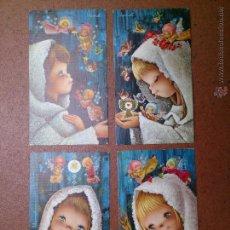Postales: LOTE 4 RECORDATORIOS COMUNIÓN VERNET. Lote 49736773