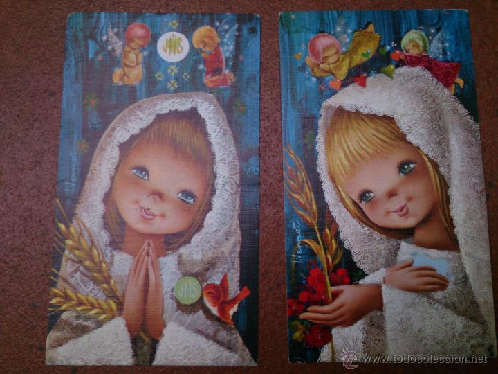 Postales: Lote 4 recordatorios comunión Vernet - Foto 2 - 49736773