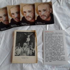 Postales: PADRE PIO CALENDARIOS JUAN DE DIOS AMIGO DE QUIEN SUFRE ORACION PADRE NUESTRO CREDO NICENO. Lote 49876648