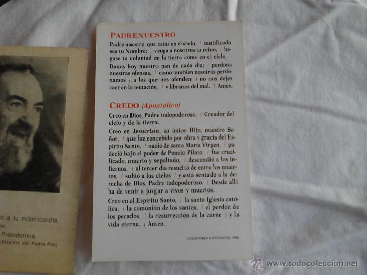 Postales: PADRE PIO CALENDARIOS JUAN DE DIOS AMIGO DE QUIEN SUFRE ORACION PADRE NUESTRO CREDO NICENO - Foto 2 - 49876648