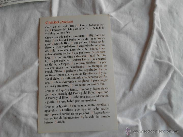 Postales: PADRE PIO CALENDARIOS JUAN DE DIOS AMIGO DE QUIEN SUFRE ORACION PADRE NUESTRO CREDO NICENO - Foto 3 - 49876648