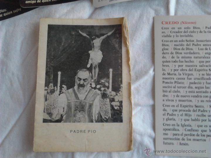 Postales: PADRE PIO CALENDARIOS JUAN DE DIOS AMIGO DE QUIEN SUFRE ORACION PADRE NUESTRO CREDO NICENO - Foto 6 - 49876648