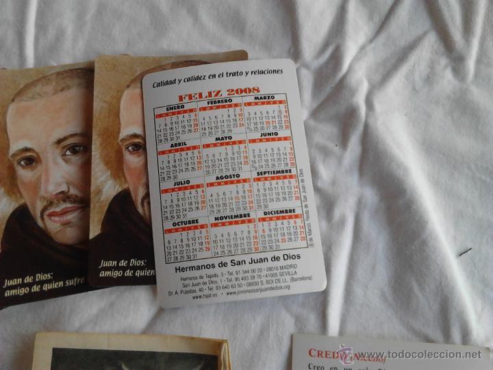 Postales: PADRE PIO CALENDARIOS JUAN DE DIOS AMIGO DE QUIEN SUFRE ORACION PADRE NUESTRO CREDO NICENO - Foto 7 - 49876648