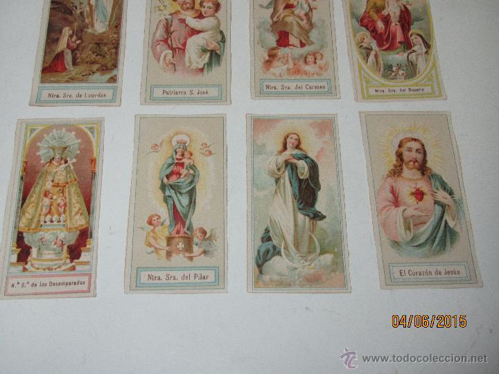 Postales: Antiguo Lote de Estampas de Santos y Santas Impresas en Litografia Color a Color - Año 1920s. - Foto 2 - 49906304