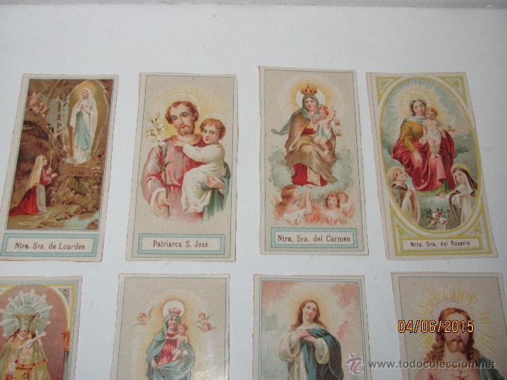 Postales: Antiguo Lote de Estampas de Santos y Santas Impresas en Litografia Color a Color - Año 1920s. - Foto 3 - 49906304