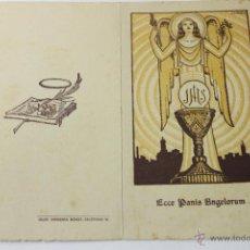 Postales: RECORDATORIO BODAS PLATA ADORACION NOCTURNA OLOT 1943. Lote 50020318