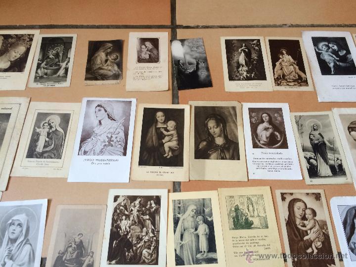 Postales: Lote de 50 estampas religiosas antiguas de la santa virgen maria madre de dios (nº1) - Foto 2 - 50070362