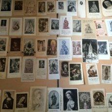 Postales: LOTE DE 50 ESTAMPAS RELIGIOSAS ANTIGUAS DE LA SANTA VIRGEN MARIA MADRE DE DIOS (Nº6). Lote 50070438