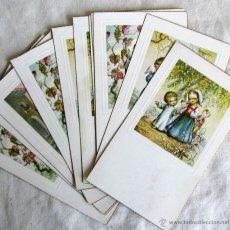 Postales: 11 RECORDATORIOS PRIMERA COMUNIÓN 1957. Lote 50076113