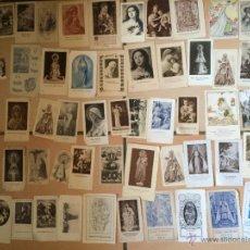 Postales: LOTE DE 50 ESTAMPAS RELIGIOSAS ANTIGUAS DE LA SANTA VIRGEN MARIA MADRE DE DIOS (Nº24). Lote 50091324