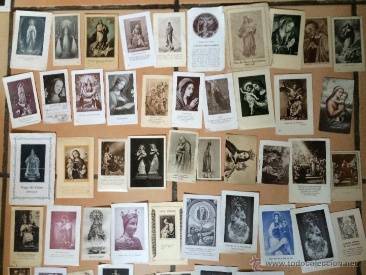 Postales: Lote de 50 estampas religiosas antiguas de la santa virgen maria madre de dios (nº27) - Foto 2 - 50194496