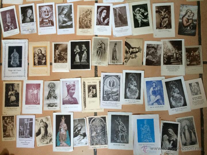 Postales: Lote de 50 estampas religiosas antiguas de la santa virgen maria madre de dios (nº27) - Foto 3 - 50194496