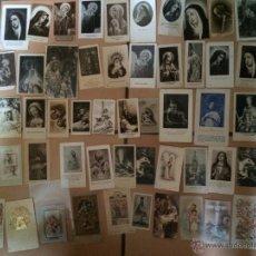 Postales: LOTE DE 50 ESTAMPAS RELIGIOSAS ANTIGUAS DE LA SANTA VIRGEN MARIA MADRE DE DIOS. Lote 50204825