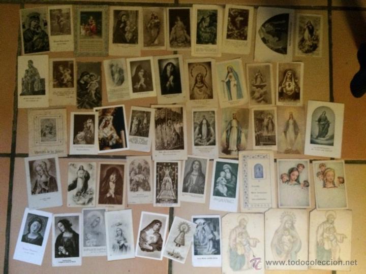 LOTE DE 50 ESTAMPAS RELIGIOSAS ANTIGUAS DE LA SANTA VIRGEN MARIA MADRE DE DIOS . ESTAMPA AÑOS 30-70 (Postales - Postales Temáticas - Religiosas y Recordatorios)