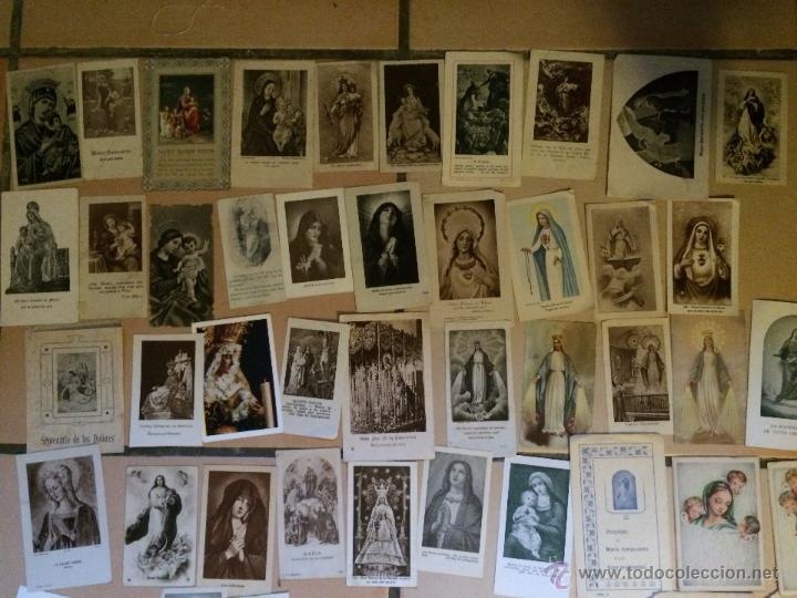 Postales: Lote de 50 estampas religiosas antiguas de la santa virgen maria madre de dios . estampa años 30-70 - Foto 2 - 50209621
