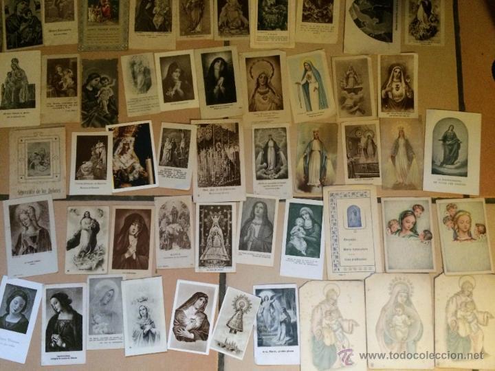 Postales: Lote de 50 estampas religiosas antiguas de la santa virgen maria madre de dios . estampa años 30-70 - Foto 3 - 50209621
