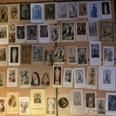 Postales: LOTE DE 50 ESTAMPAS RELIGIOSAS ANTIGUAS DE LA SANTA VIRGEN MARIA MADRE DE DIOS . ESTAMPA AÑOS 30-70. Lote 50209622