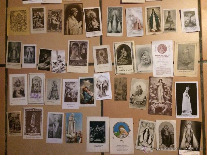 Postales: Lote de 50 estampas religiosas antiguas de la santa virgen maria madre de dios . estampa años 30-70 - Foto 3 - 50215903