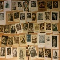 Postales: LOTE DE 50 ESTAMPAS RELIGIOSAS ANTIGUAS DE LA SANTA VIRGEN MARIA MADRE DE DIOS . ESTAMPA AÑOS 30-70. Lote 50215907