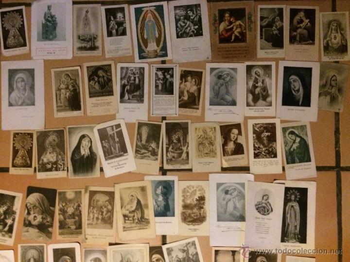 Postales: Lote de 50 estampas religiosas antiguas de la santa virgen maria madre de dios . estampa años 30-70 - Foto 2 - 50215907