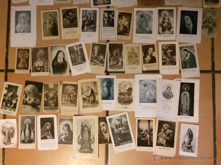 Postales: Lote de 50 estampas religiosas antiguas de la santa virgen maria madre de dios . estampa años 30-70 - Foto 3 - 50215907